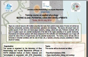 Training course on applied phycology: Tunis, 09-14 July 2018